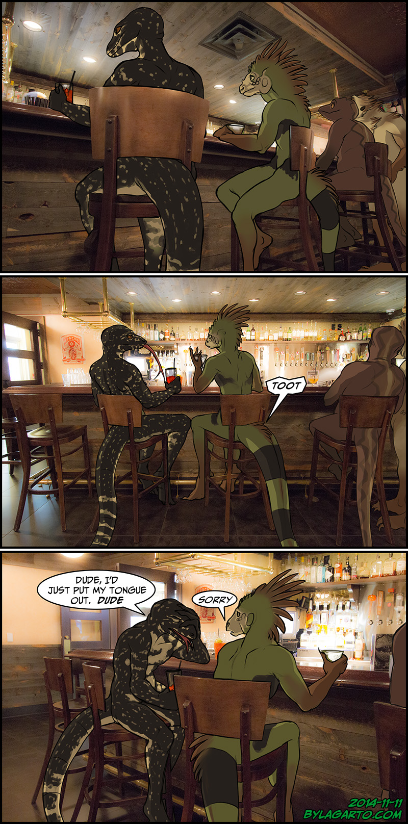 2 Lizards in a Bar