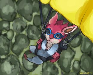 Bunny Paragliding