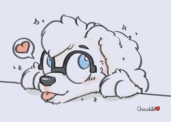 Cute Puppy Oilspilt