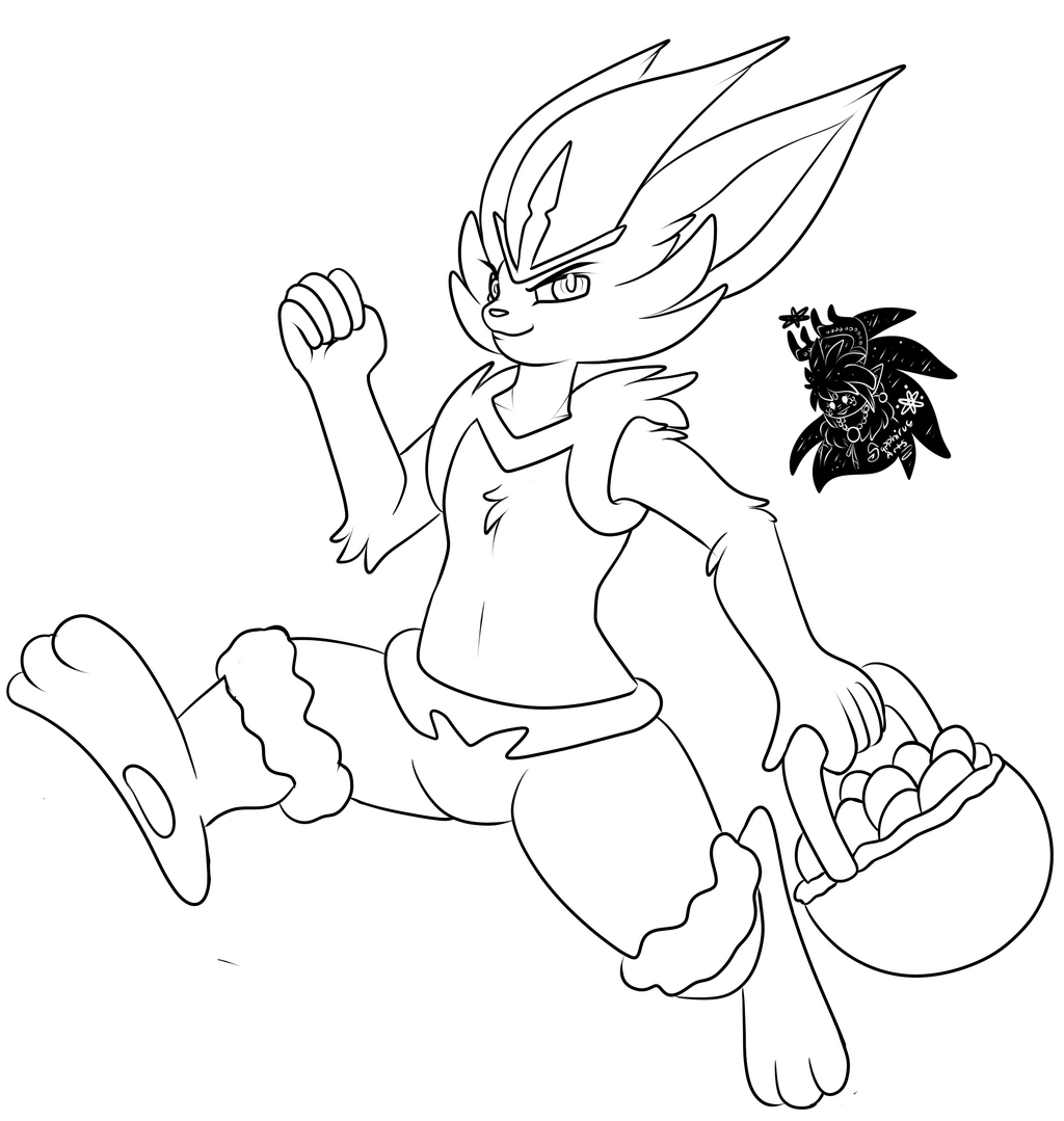 Easter Cinderace +Commission WIP+