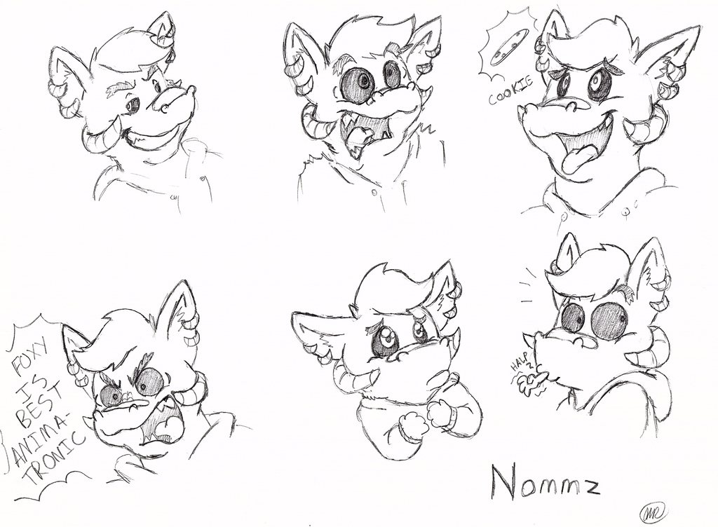 [commission] Nommz Expression sheet