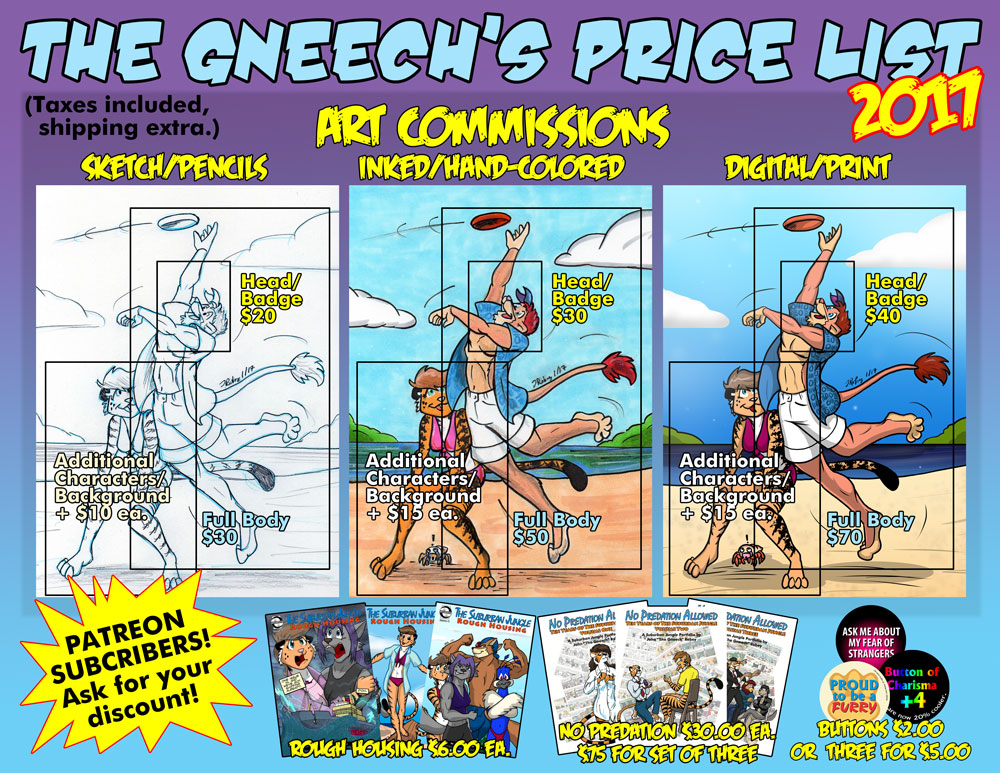 Most recent image: Commission Price Sheet 2017