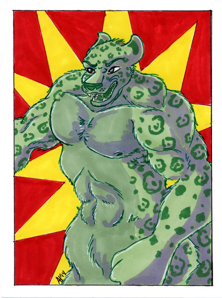Avengers Art Card - Hulk