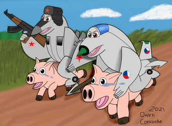 MiGs On Pigs