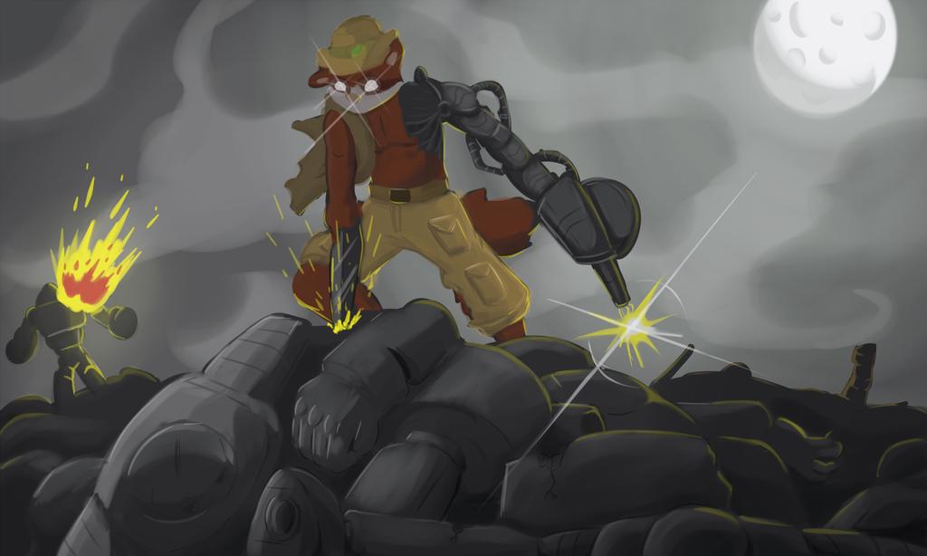 """Gift: """"Zakk: Robot Army Killer..."""" (Painting Practice)"""