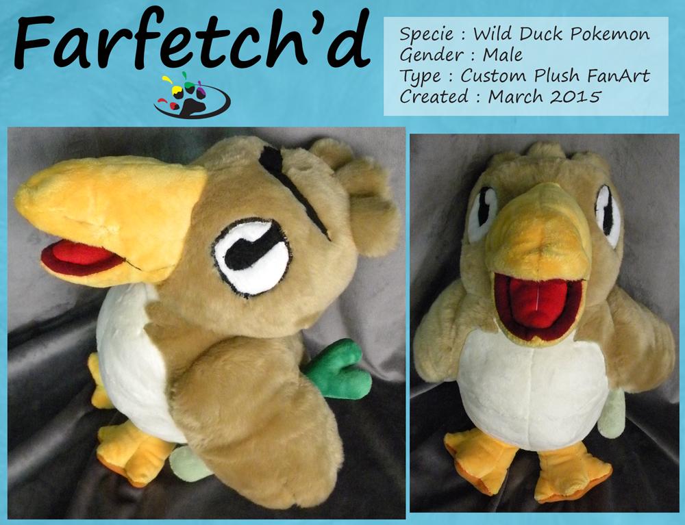 Farfetch'd Pokemon Plush!