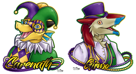 Mardi Gras Badges