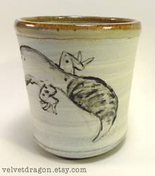 Leopard Gecko Cup Detail