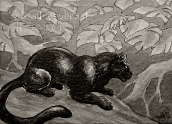Inktober #13   Panther   ACEO