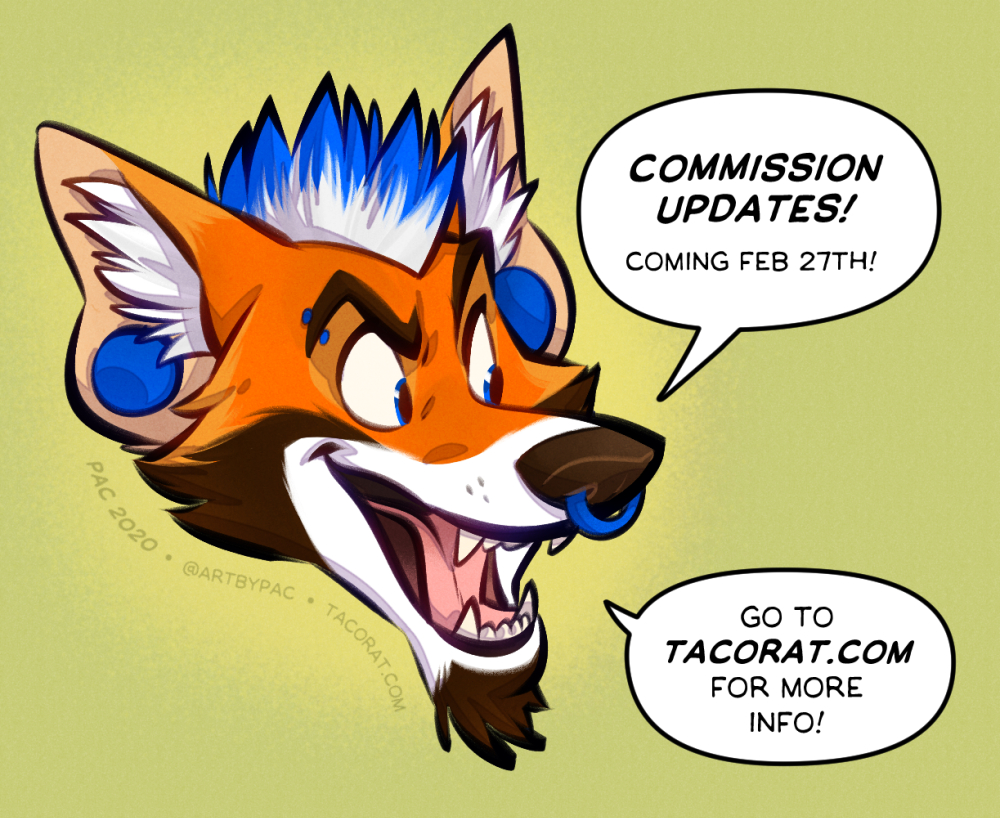 COMMISSION UPDATES COMING FEB 27th