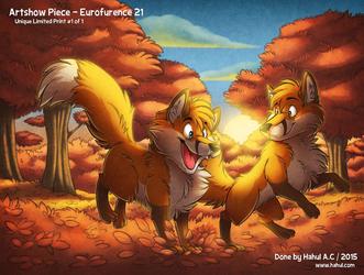Autumn Foxes (Artshow EF21)