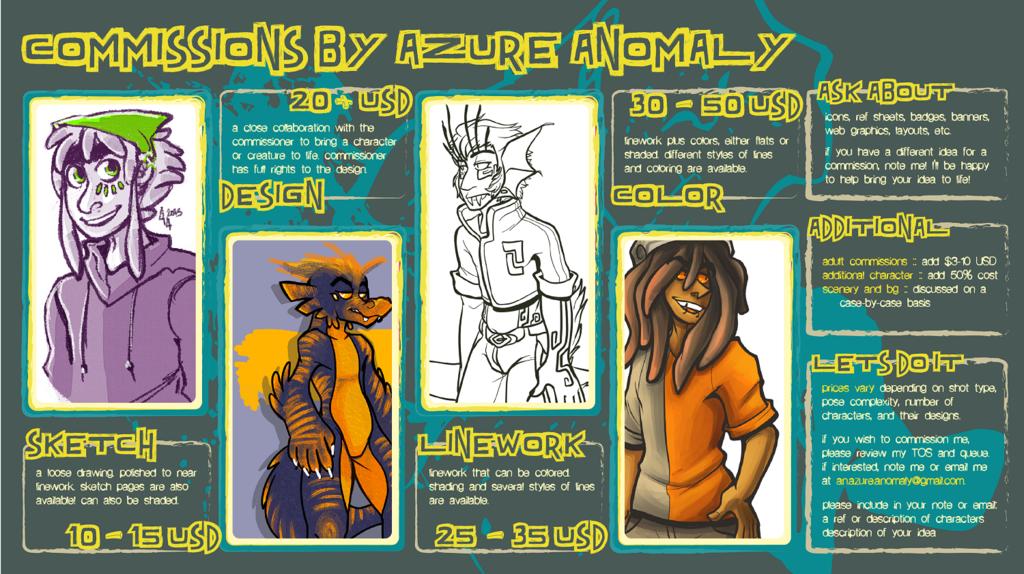AzureAnomaly's Commissions Menu