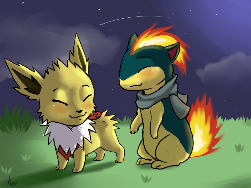 Quilava and Jolteon