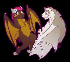 Bat Buddies by Kiwi-Heart