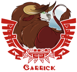 [commission] MH4U Badge - Carrick