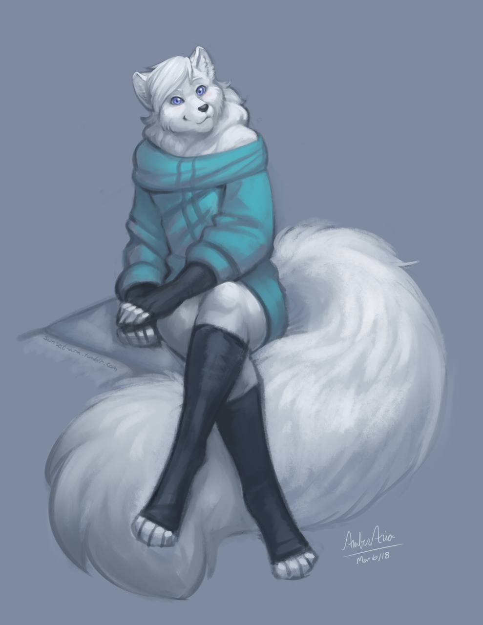 Fox in Socks and Sweater