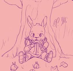Apple-Eating Bunny (November 2016)