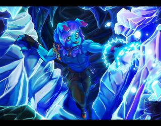 Ice Cave Hunt (Commission Art)