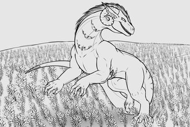 Commission: Blacklight-tiger Sketch