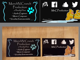 'MunchN'Crunch' Production - Business Cards