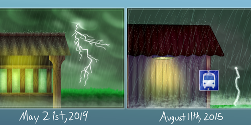 Rainy Station Redraw Comparison