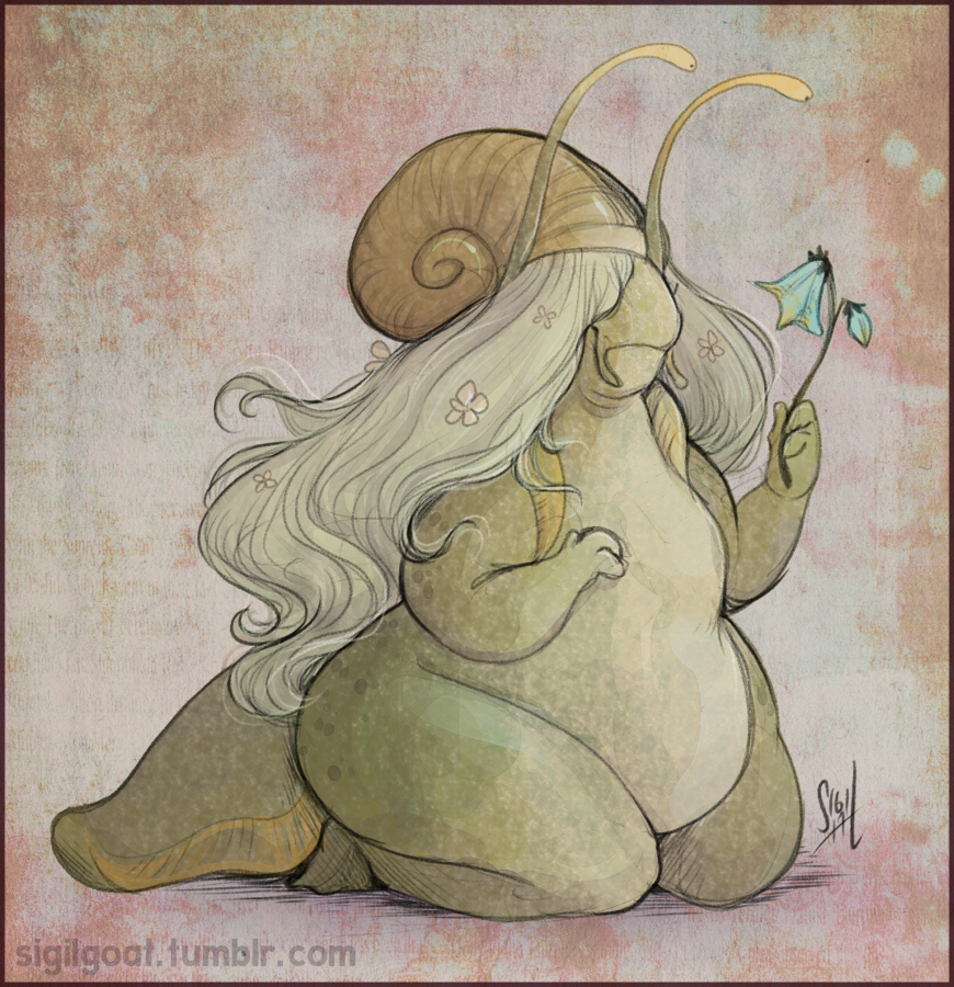 [Colored Sketch] Savi Snail