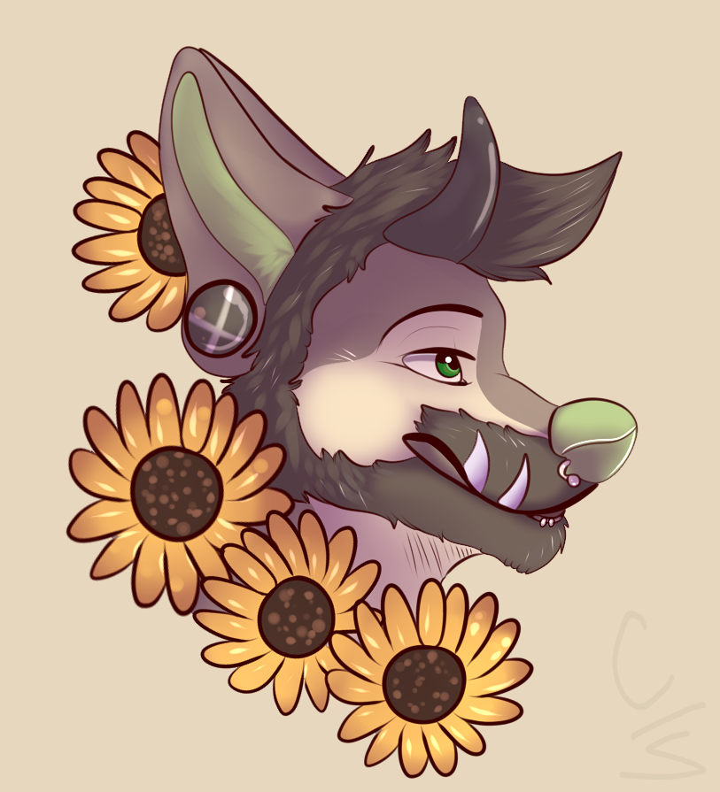 Flowery bust