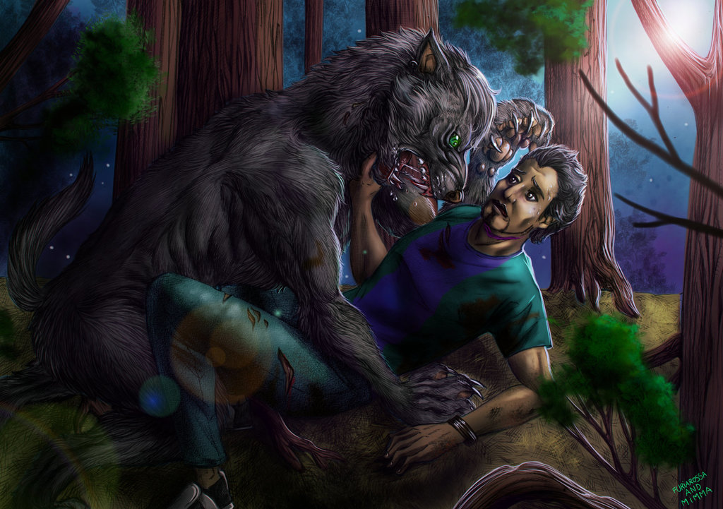 Commission - Attacked by a werewolf