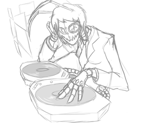 Sketch out - Daddy and her turntables