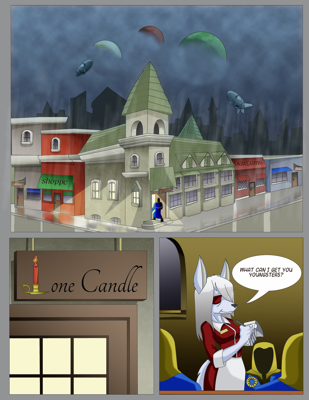 Featured image: Lone Candle, Book 1, Page 2