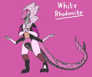 White Rhodonite