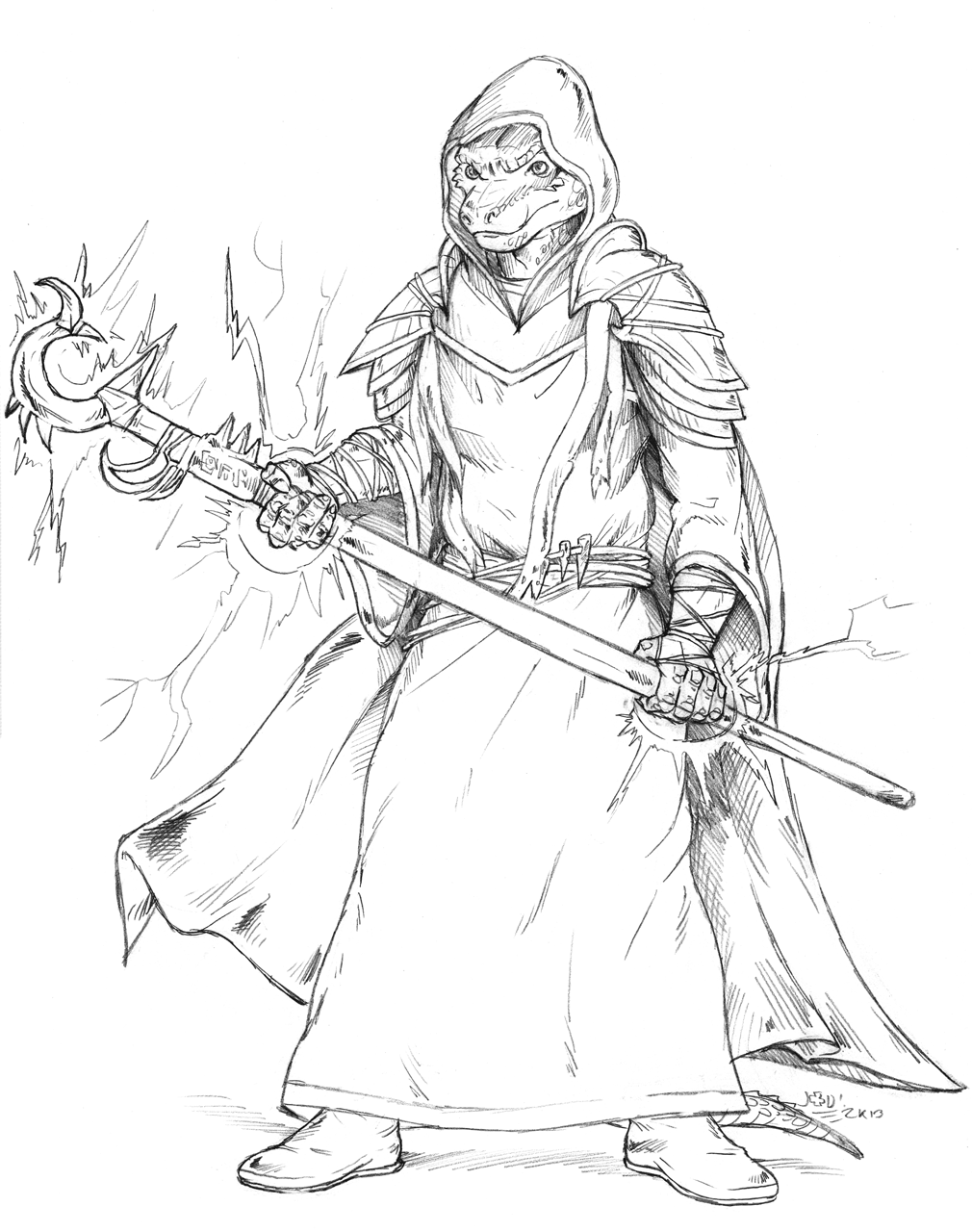 Commission (Sketch) - So full of mage
