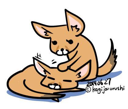 Most recent image: kagijouurushi drew me some fennecs :3