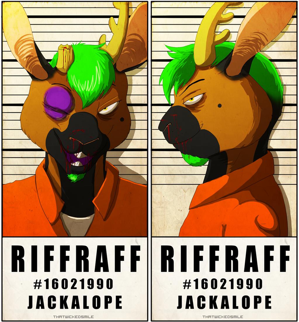 MugShot Badge - RiffRaff