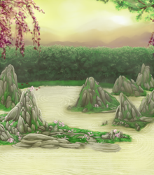 Pet Sim Background - Rock Garden