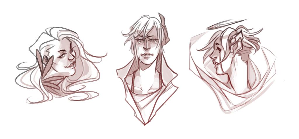 Bunch of headshot doodles