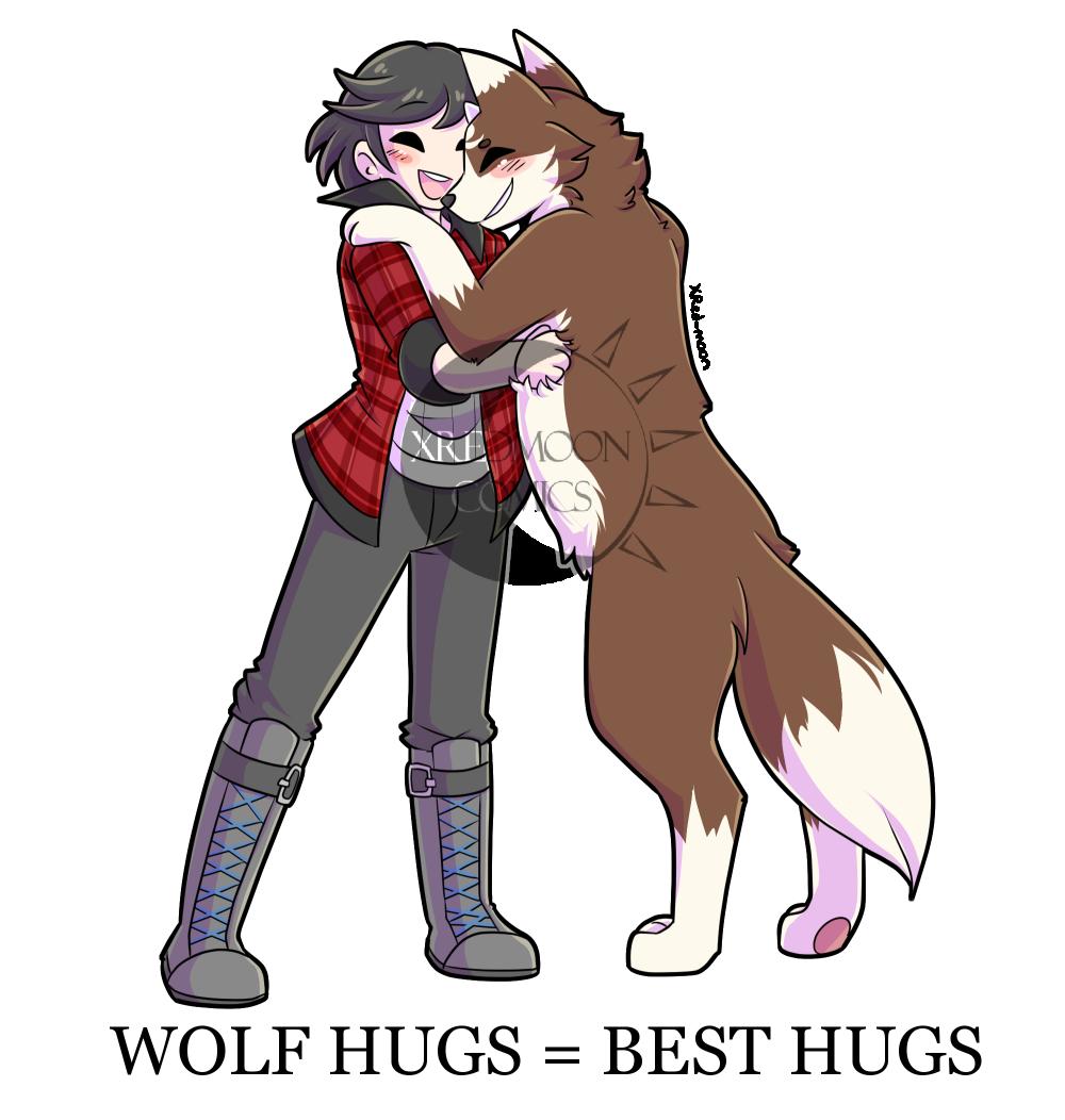 Wolf Hugs = Best Hugs
