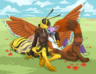 Birds and Bees by demicoeur