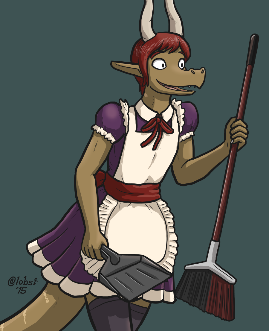 The Trusty Draconian Maid