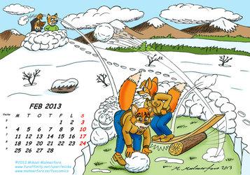 Fox Calendar 2013 - February