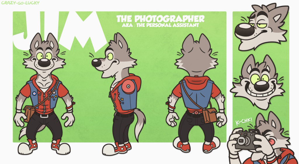 Jim The Photographer - Reference Sheet