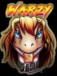 Warzy Chomp Badge