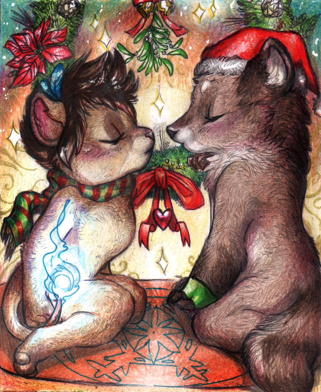 Most recent image: Commission - Under the mistletoe...