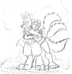 How to hug a Tyrnncario properly.