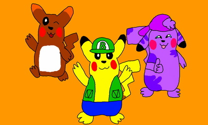 The Three Pikachus