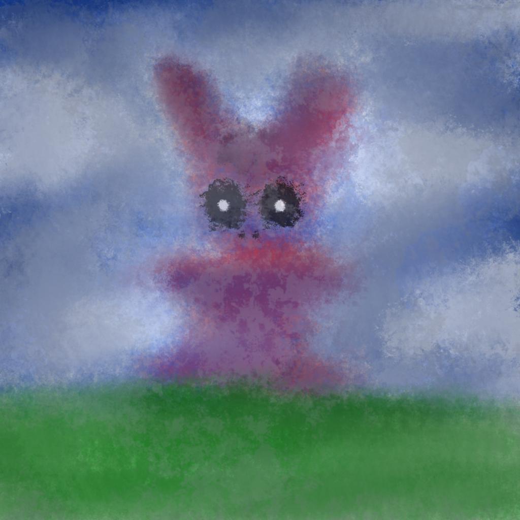 The broken bunny statue