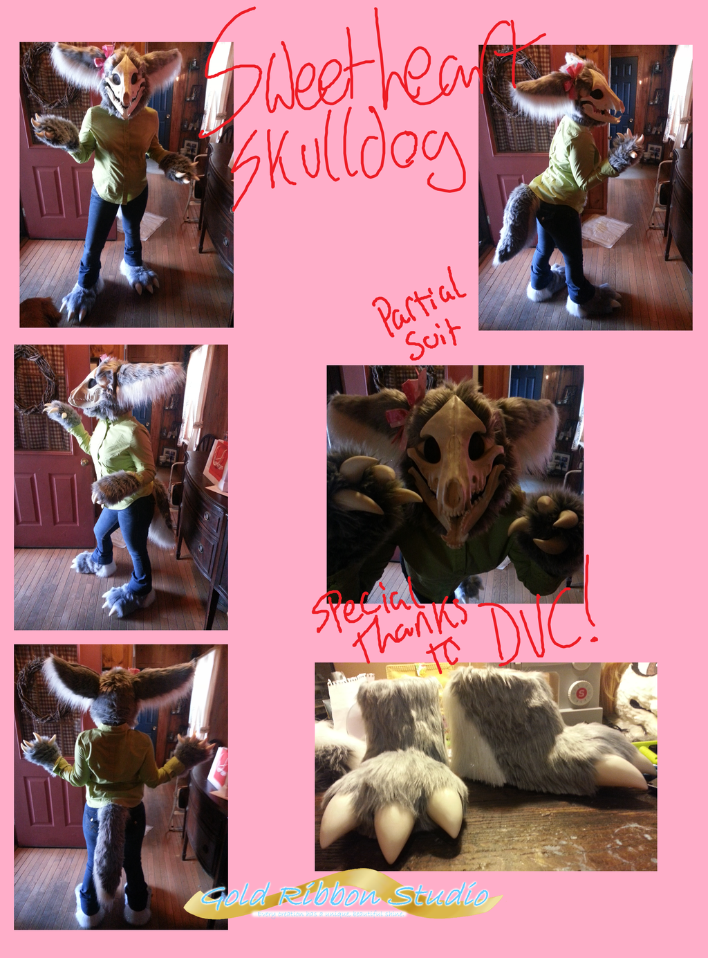 Featured image: Sweetheart Skulldog fursuit