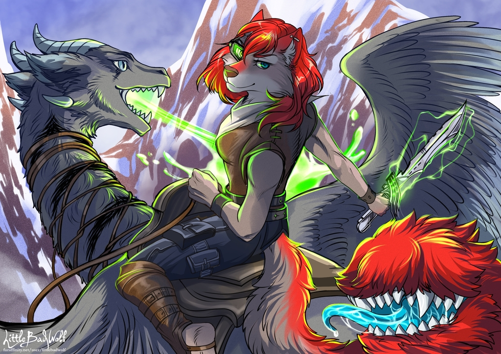 Dragon Rider - By LittleBadWolf
