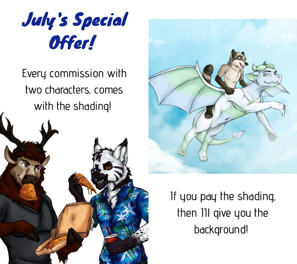 Most recent image: July's Offer: Shaded Commissions