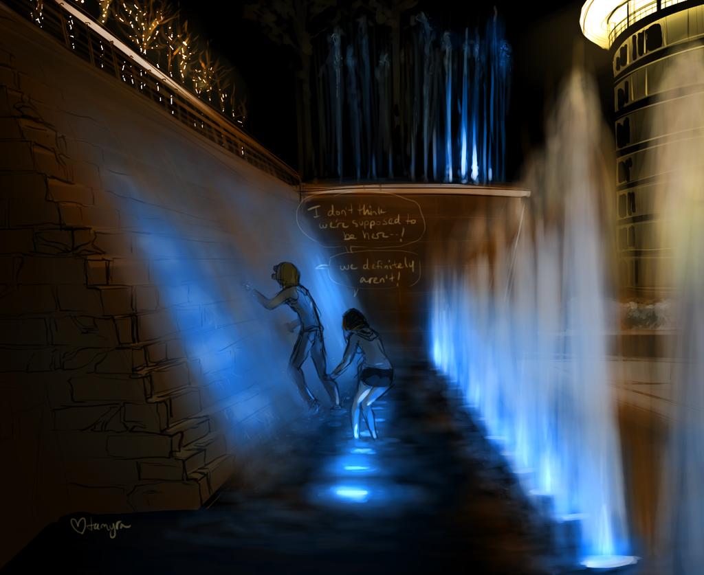 fountain climbing